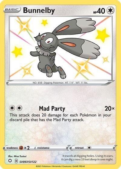 Pokemon Trading Card: Shining Fates - Bunnelby SV097/SV122