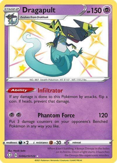 Pokemon Trading Card: Shining Fates - Dragapult SV062/SV122
