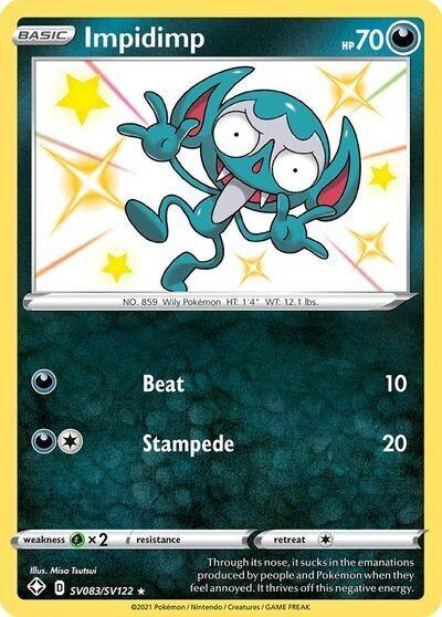 Pokemon Trading Card: Shining Fates - Impidimp SV083/SV122
