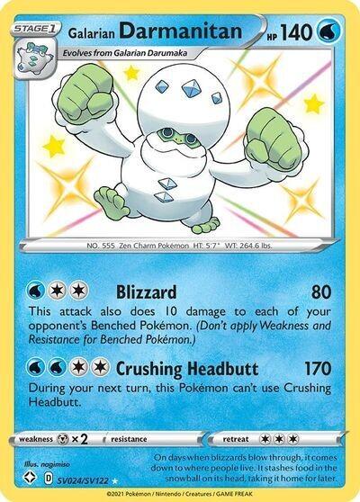 Pokemon Trading Card: Shining Fates - Galarian Darmanitan SV024/SV122