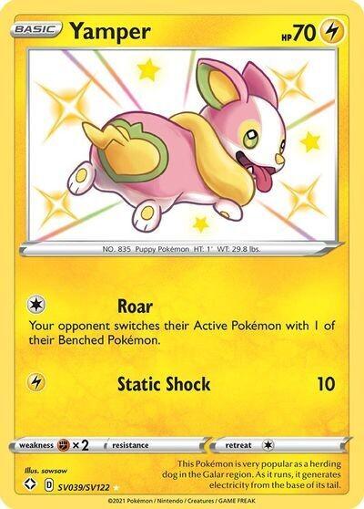 Pokemon Trading Card: Shining Fates - Yamper SV039/SV122