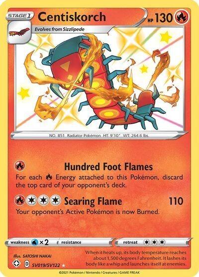 Pokemon Trading Card: Shining Fates - Centiskorch SV019/SV122
