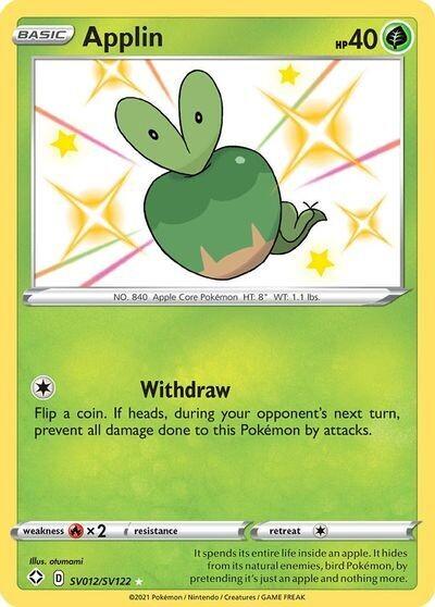 Pokemon Trading Card: Shining Fates - Applin SV012/SV122