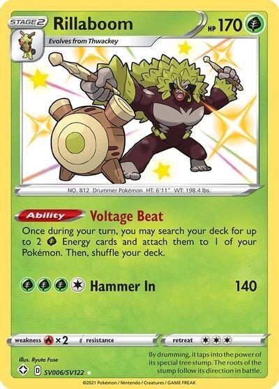 Pokemon Trading Card: Shining Fates - Rillaboom SV006/SV122
