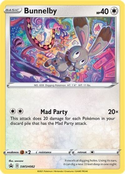 Pokemon Trading Card: Sword & Shield [Promo] - Bunnelby SWSH082