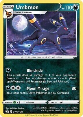 Pokemon Trading Card: Sword & Shield [Promo] - Umbreon SWSH129