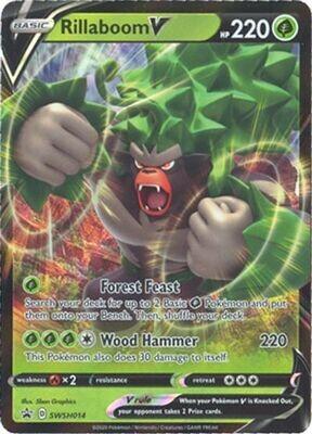 Pokemon Trading Card: Sword & Shield [Promo] - Rillaboom V SWSH014