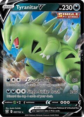 Pokemon Trading Card: Battle Styles - Tyranitar V 074/198