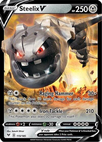 Pokemon Trading Card: Vivid Voltage - Steelix V 115/185