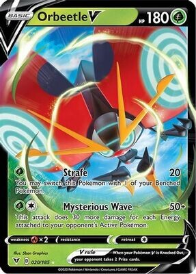 Pokemon Trading Card: Vivid Voltage - Orbeetle V 020/185
