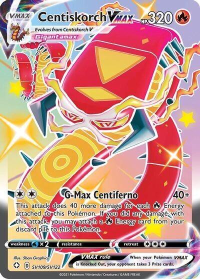 Pokemon Trading Card: Shining Fates [Shiny Vault] - Centiskorch VMAX SV109/SV122