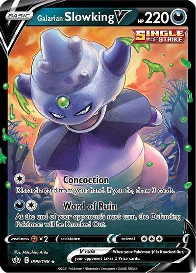 Pokemon Trading Card: Chilling Reign - Slowking V 099/198