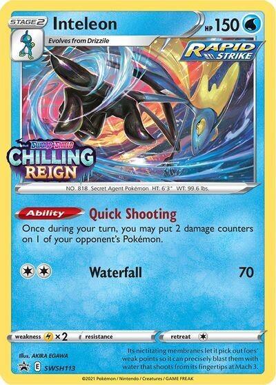 Pokemon Trading Card: Sword & Shield - Chilling Reign [Promo] - Inteleon SWSH113 [Stamped]