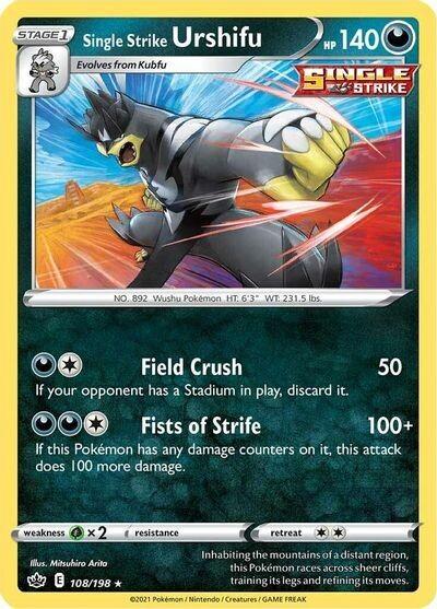 Pokemon Trading Card: Chilling Reign - Single Strike Urshifu 108/198