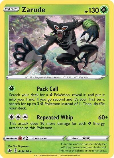 Pokemon Trading Card: Chilling Reign - Zarude 019/198