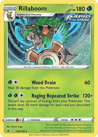 Pokemon Trading Card: Chilling Reign - Rillaboom 18/198