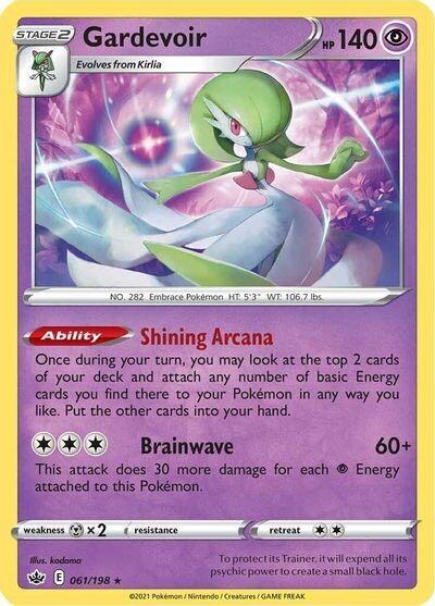 Pokemon Trading Card: Chilling Reign - Gardevoir 61/198