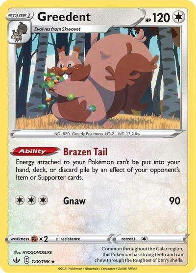 Pokemon Trading Card: Chilling Reign - Greedent 128/198