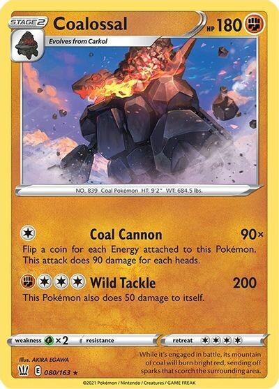 Pokemon Trading Card: Battle Styes - Coalossal 080/163