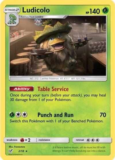 Pokemon Trading Card: Detective Pikachu - Ludicolo 2/18