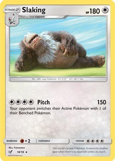 Pokemon Trading Card: Detective Pikachu - Slaking 18/18