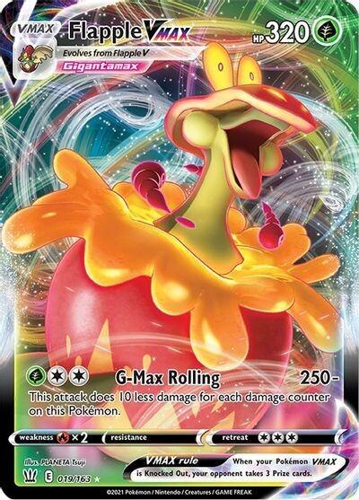 Pokemon Trading Card: Battle Styles - Flapple VMAX 019/163