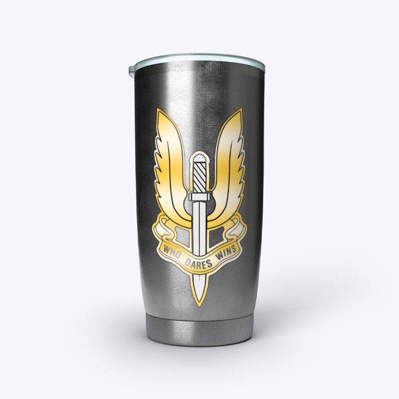 Who Dares Wins Arctic (British SAS Special Forces) Stainless Steel Tumbler