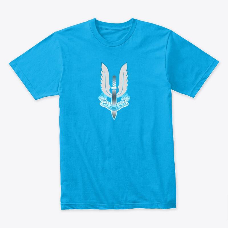 Who Dares Wins Arctic (British SAS Special Forces) Men's Premium Cotton T-Shirt [CHOOSE COLOR] [CHOOSE SIZE]
