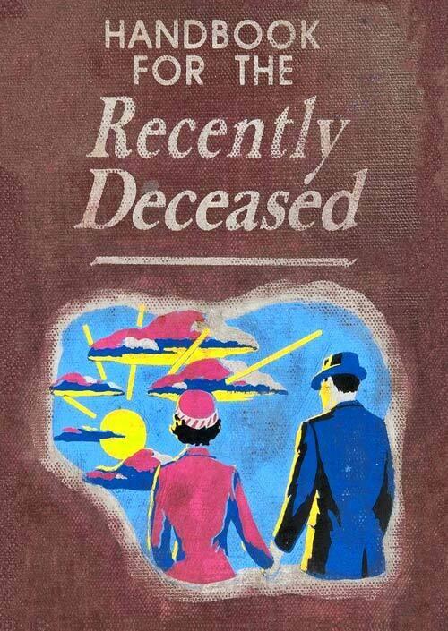 Handbook for the Recently Deceased (Beetlejuice) Hardback Book - Journal Diary Movie Prop Replica
