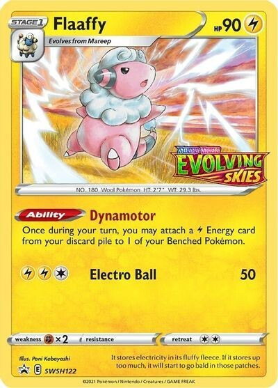 Pokemon Trading Card: Chilling Reign - Flaaffy SWSH122