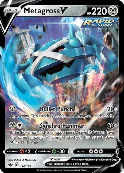 Pokemon Trading Card: Chilling Reign - Metagross V 112/198