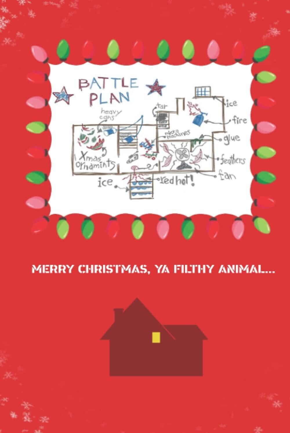 Home Alone Battle Plan [Hardback] Book - Christmas Movie Prop Journal Diary