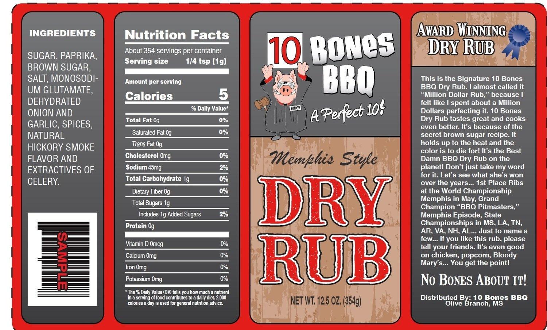 10 Bones Signature Dry Rub 5lbs
