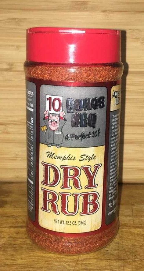10 Bones Signature Dry Rub 12.5 Ounces