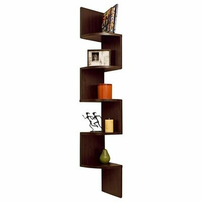 Corner Wall Mount Shelf Unit Zigzag Shape