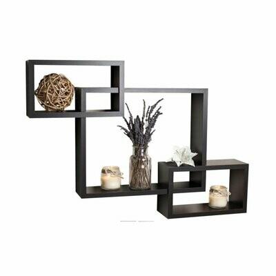 Wall Shelf Set of 3 Rectangular Shelves