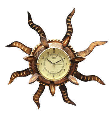 Shilpi Bronze Mango Wood Wall Clock