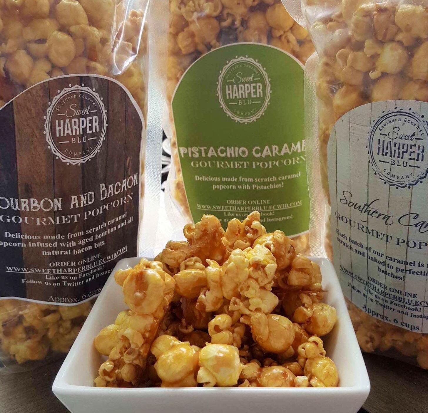 Pistachio Caramel Popcorn