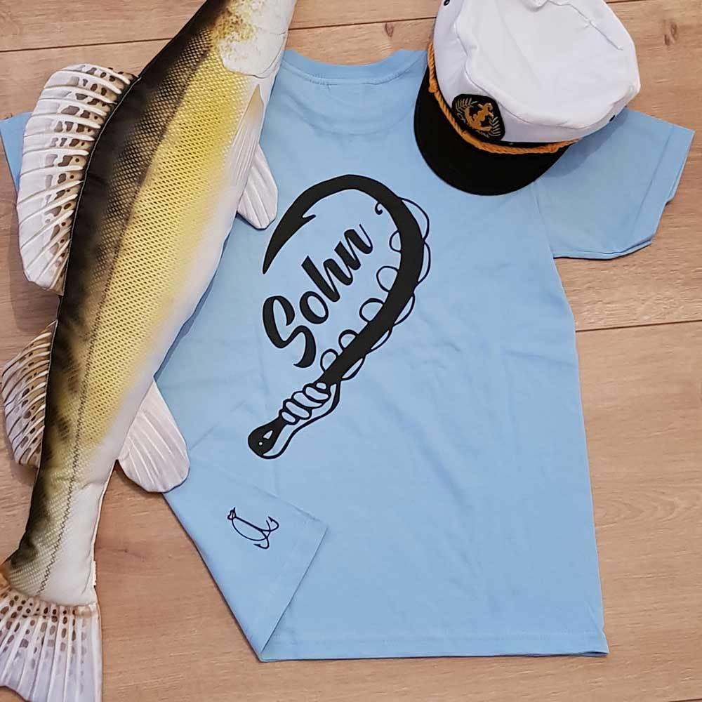 """""""Anglerin & Angler / Mutter & Sohn"""" T-Shirt Partnerset (Kindergröße 90 bis XXXL)"""
