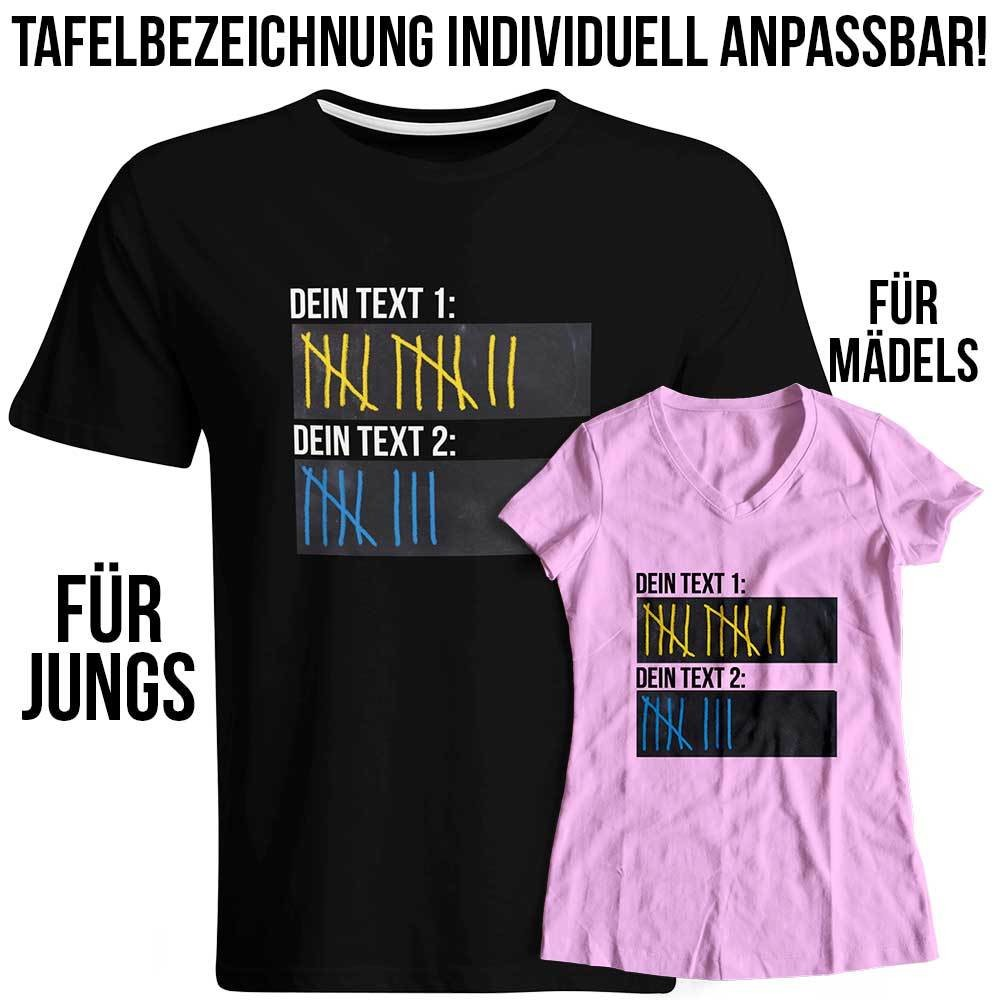 Original Sauf-Counter Classic T-Shirt (Konfigurierbar mit Wunschtext)