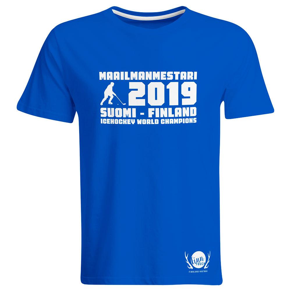 """Maailmanmestari 2019 Suomi Finland"" T-Shirt (Men) M1-FT 92064"