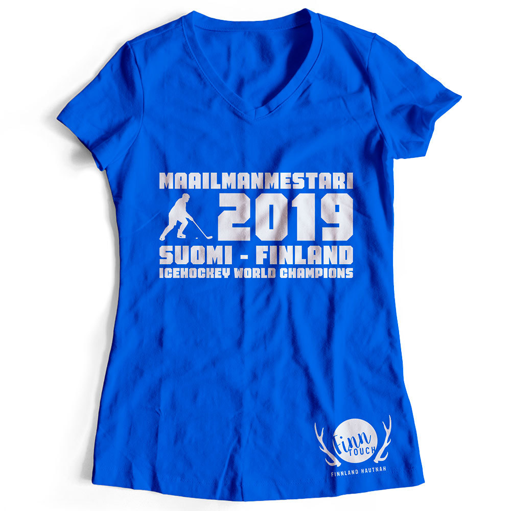 """Maailmanmestari 2019 Suomi Finland"" T-Shirt (Women) M1-FT 92065"
