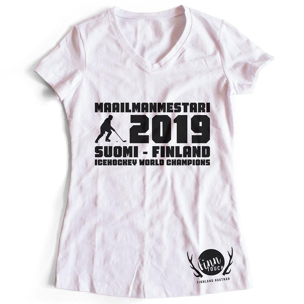 """""""Maailmanmestari 2019 Suomi Finland"""" T-Shirt (Women)"""