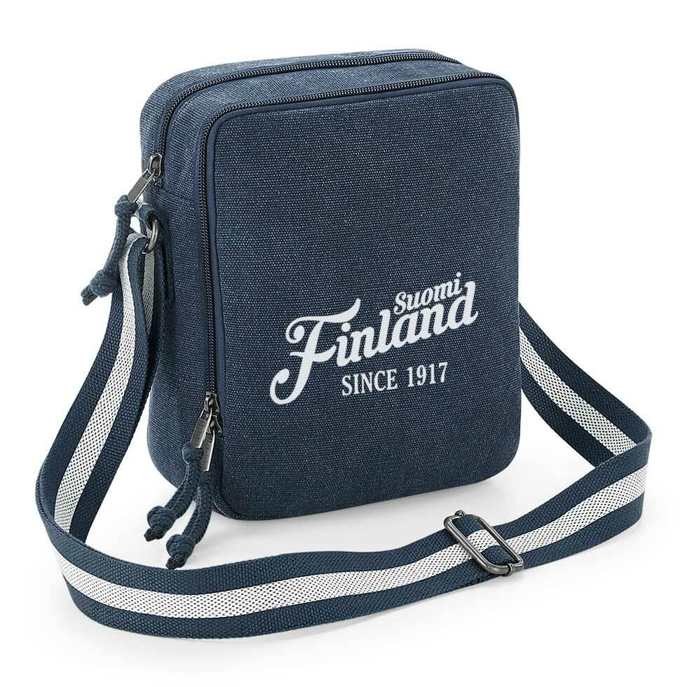 """""""Suomi Finland - since 1917"""" Vintage Umhängetasche M1-FT 92081"""
