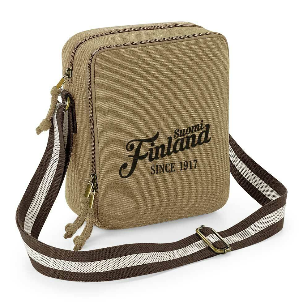 """""""Suomi Finland - since 1917"""" Vintage Umhängetasche"""