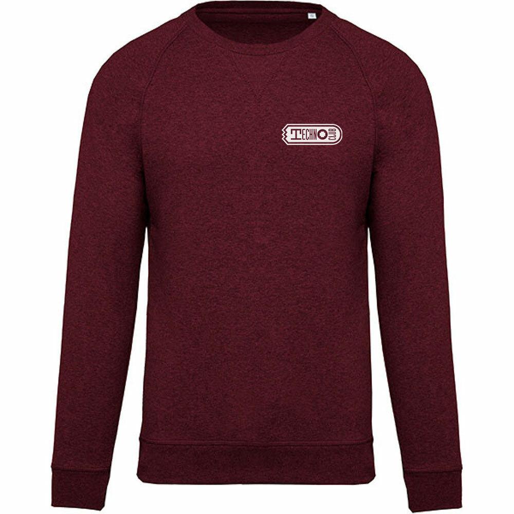 Technoclub Premium Pullover mit gesticktem V-Einsatz am Kragen