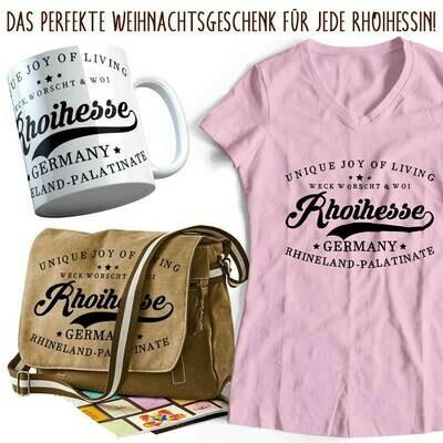 Rhoihesse Xmas 2020 Geschenkset für Damen (Vintagetasche, T-Shirt & Tasse)