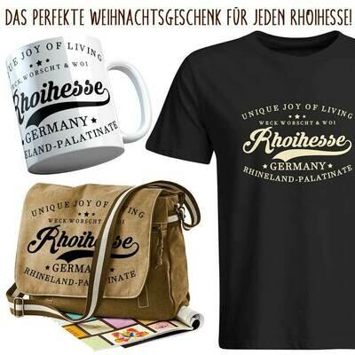 Rhoihesse Xmas 2020 Geschenkset für Herren (Vintagetasche, T-Shirt & Tasse)