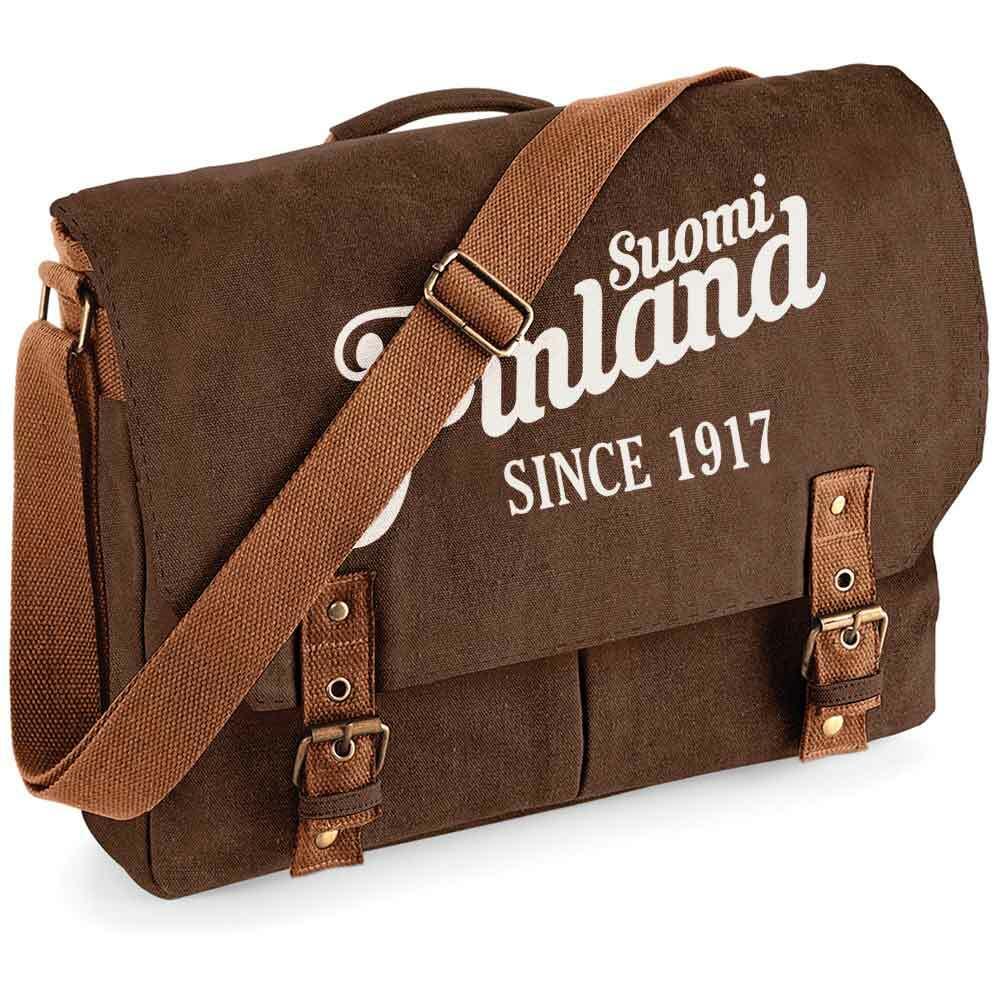 """""""Suomi Finland - since 1917"""" Premium Schultertasche im Vintagelook M1-FT 92121"""