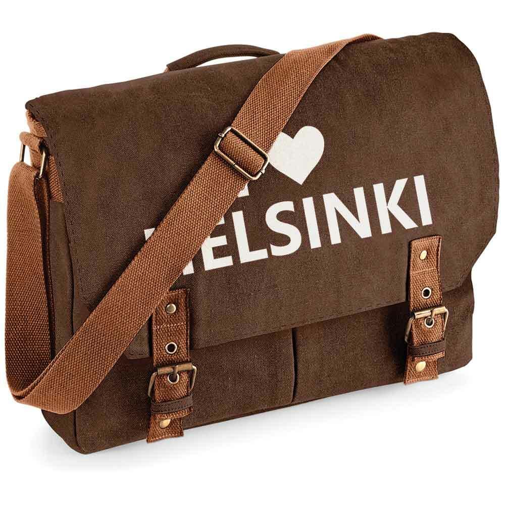 """""""I love Helsinki"""" Premium Schultertasche im Vintagelook M1-FT 92129"""